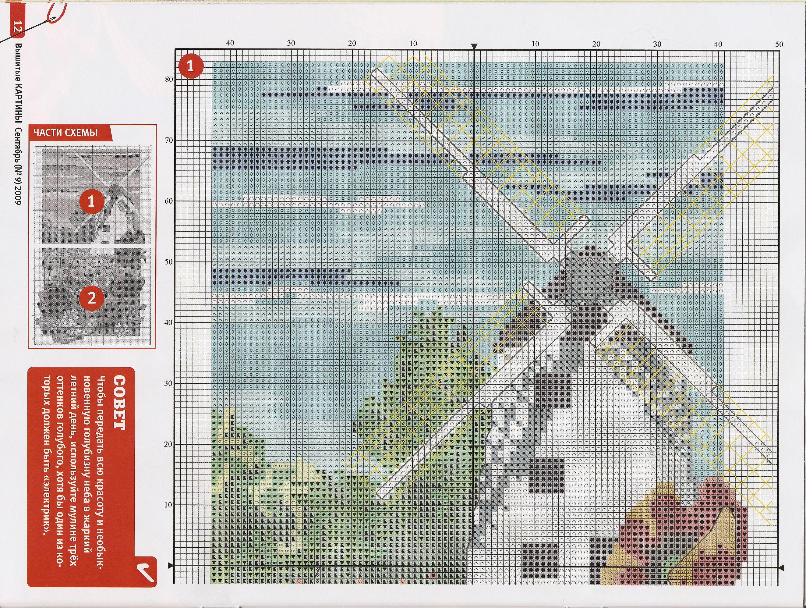 Скачать бесплатно схемы вышивка крестом мельница