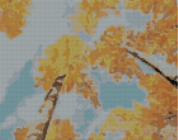 Образец вышивки Березы Осень