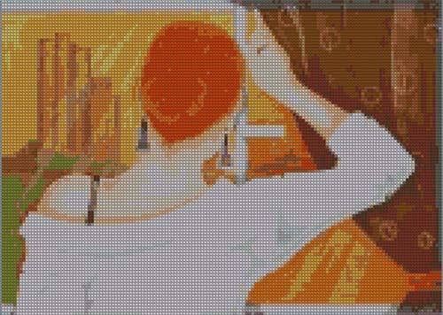 Схема вышивки Девушка у окна