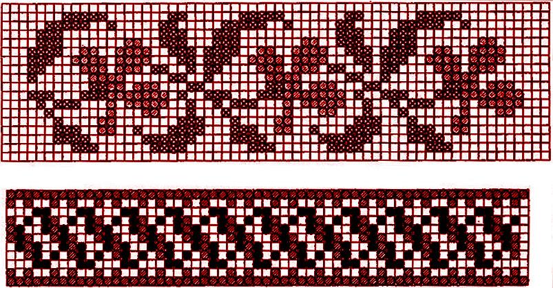схемы для тканья и вышивки